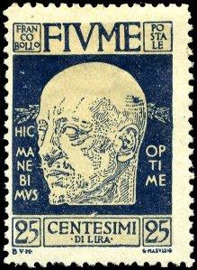 Stamp_Fiume_1920_25c_Annunzio