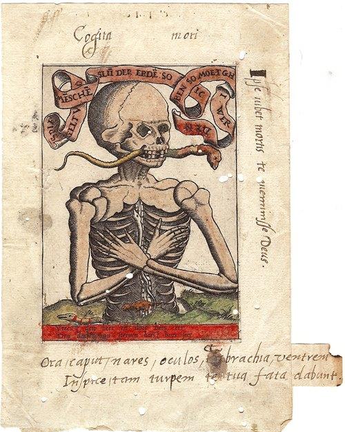 Memento Mori engraving (ca. 1500)