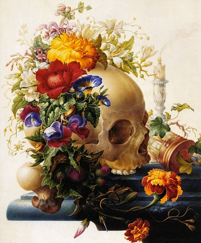 Herman Henstenburgh ~ Vanitas Still-life, ca. 1700