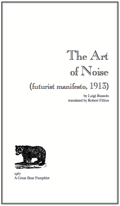 art of noises russolo