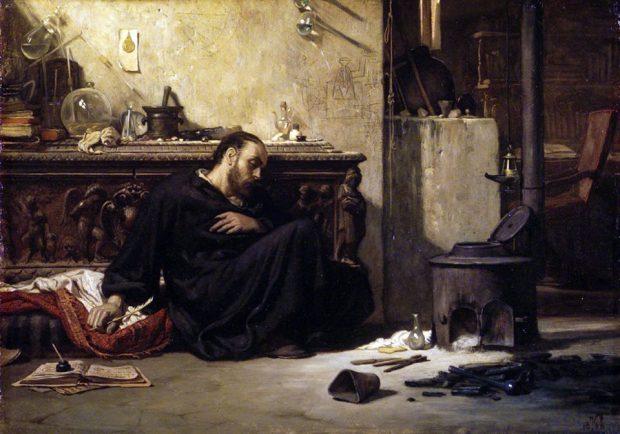 Elihu Vedder - The Dead Alchemist (1868)