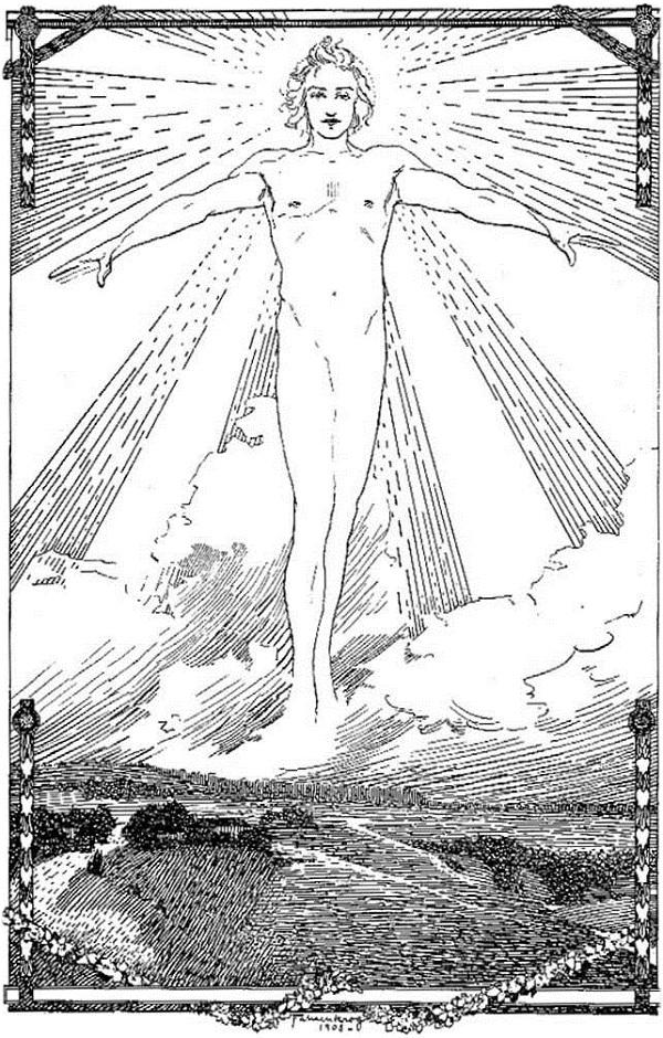Ludwig Fahrenkrog ″Baldur, Sonne, Geist des Alls,″ in his Baldur (1908)