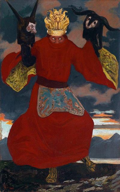 Sascha Schneider - Der Schamane (The Shaman) circa 1901
