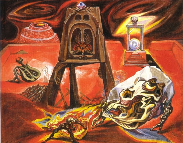 André Masson - the building site of maze (1939)