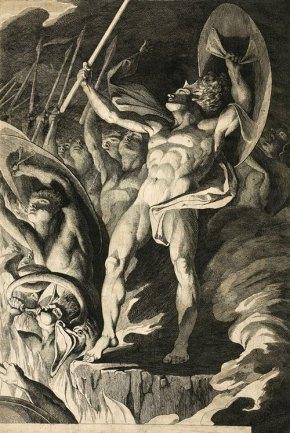 James Barry _Satan and His Legions Hurling Defiance Toward the Vault of Heaven 1792-1794