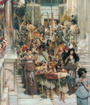 02 Rites of Spring by Lawrence Alma-Tadema, 19th Century - detail