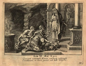 02_Aeneas brings the Golden Bough to the Sibyl