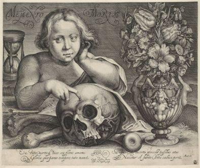 B_Memento mori (Vanitas met vaas bloemen)