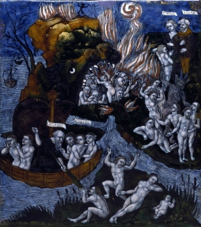Master of the Aeneid Legend. The Descent of Aeneas into Hell. 1540.