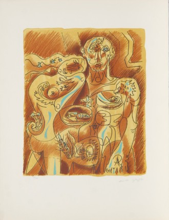 Andre Masson, Couple Alchimique, Lithograph