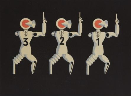 "Xanti Schawinsky. Shakespeare ""Die beiden Veroneser"" Räuberballett. 1925."
