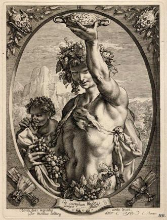 Bacchus by Hendrick Goltzius (1558–1617)1