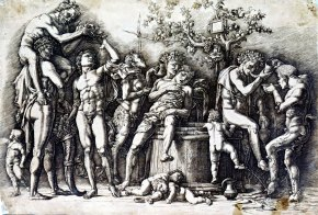 Bacchanalia with a Wine - Andrea Mantegna 1480