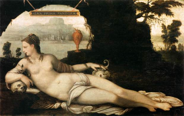 Eva Prima Pandora by Jean Cousin the Elder circa 1550