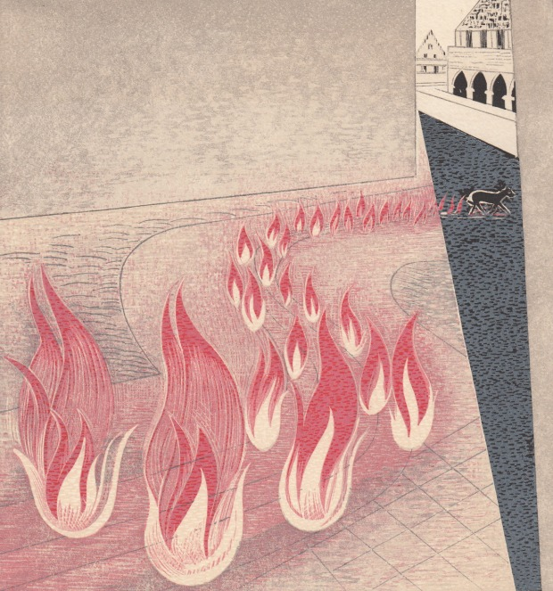 François Louis Schmied A Trace of Fire Trails Behind Him Illustrations for Johann Wolfgang von Goethes Faust 1938