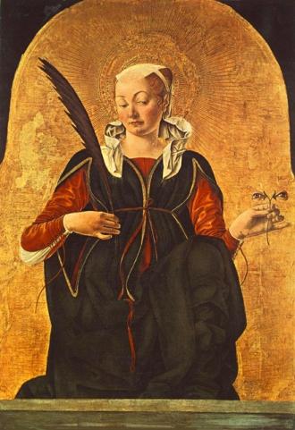 Santa Lucia  SENZA OCCHI