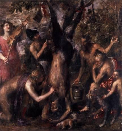 01 O esfolamento de Marsias Tiziano Vecellio 1576