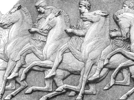 Detail from the Parthenon Frieze, engraving 1883.