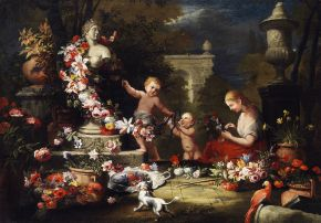 01 Floral Tribute for Venus 1690 or earlier, attributed to Abraham Brueghel