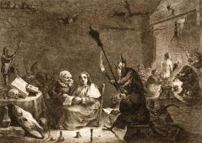 02 Dominique Vivant Denon (after David Teniers the Younger), Sorceress, n.d.