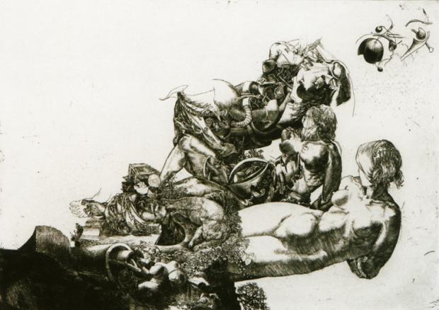 02 Jean Pierre Velly Mutterschaft mit Katze 1967