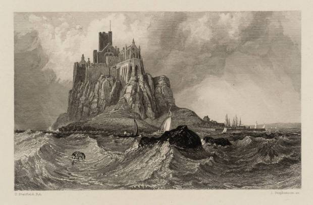 St Michael's Mount, Cornwall, engraved by J. Stephenson 1836 by Clarkson Frederick Stanfield 1793-1867