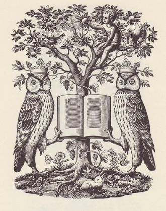 02 Owls from 'The Book Guide', engraving by Joan Hassall 1947.jpg