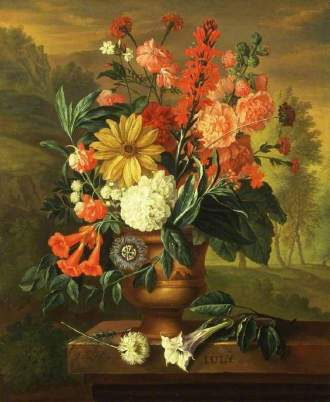 01 July Twelve Months of Flowers Jacob van Huysum