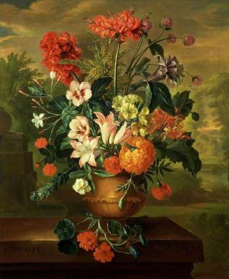 01 Twelve Months of Flowers Jacob van Huysum August