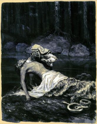 Tuonela_Nikolai Kochergin_illustrations for Kalevala