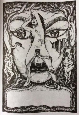 MAHLON BLAINE (1894 - 1969) the Gorgon 1949