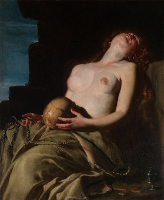 01 Guido Cagnacci - Maddalena Svenuta (Fainting Magdalene) (1663)