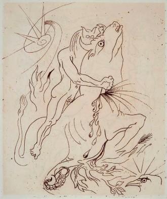 02 Gravure de André Masson pour Sacrifices de Georges Bataille, éditions G.L.M., 1936