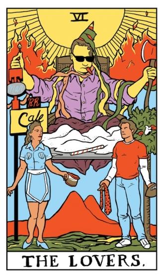 02 The Lovers Twin Peaks tarot card by Benjamin Mackey