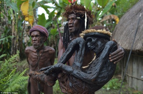 02 The indigenous tribe, who live in a remote area of the Papuan central highlands, used to preserve their ancestors by smoking their bodies, which kept them in a near-perfect state for hundreds of years