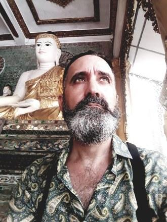 Killing the ego accepting the shadow. — at Shwedagon Pagoda Yangoon Myanmar.